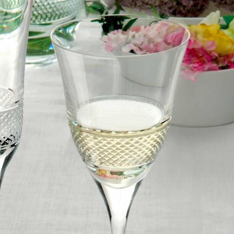 12 verres à vin blanc dans un design décoré de luxe en cristal écologique - Milito