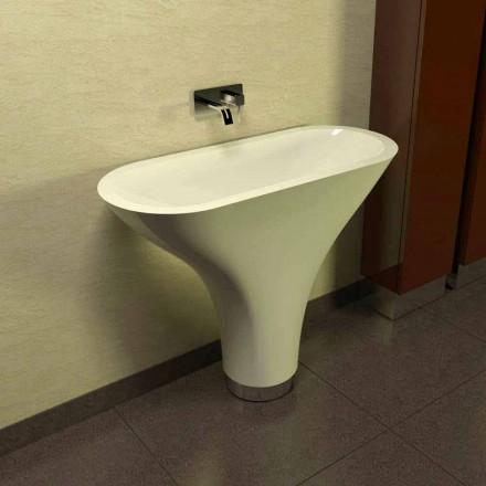 Lavabo à poser au sol design moderne fabriqué en Italie Flounder