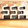 Bibliothèque de design moderne en Solid Surface® fabriquée en Italie,Ser P