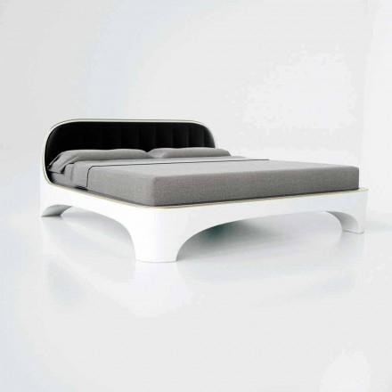 Lit double de design moderne luxury, fabriqué en Italie, Elegance