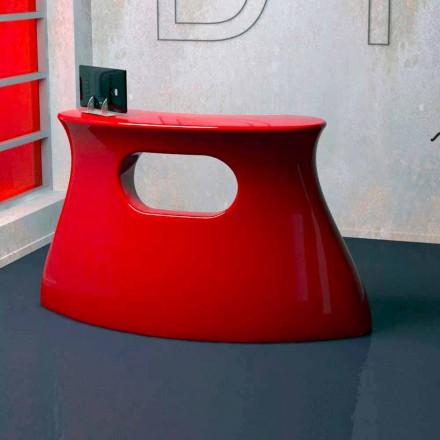 Table pour salle d' accueil moderne fabriquée en Italie, Bob