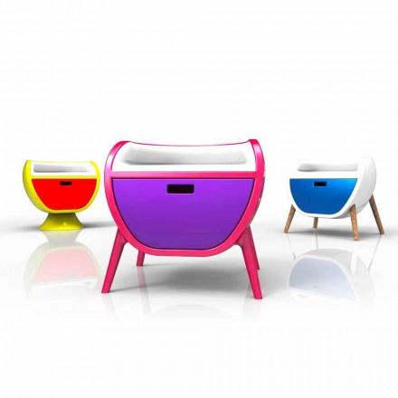 Table de nuit de design  moderne fabriquée en Italie, Gauche