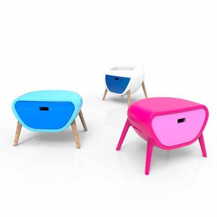 Table de nuit de design  moderne fabriquée en Italie, Little Gauche
