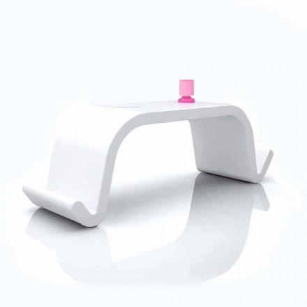 Bureau de design moderne blanc, noir ou doré Acton