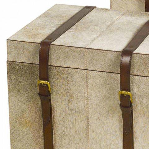 2 design à poney gris troncs Ritini, petits et grands