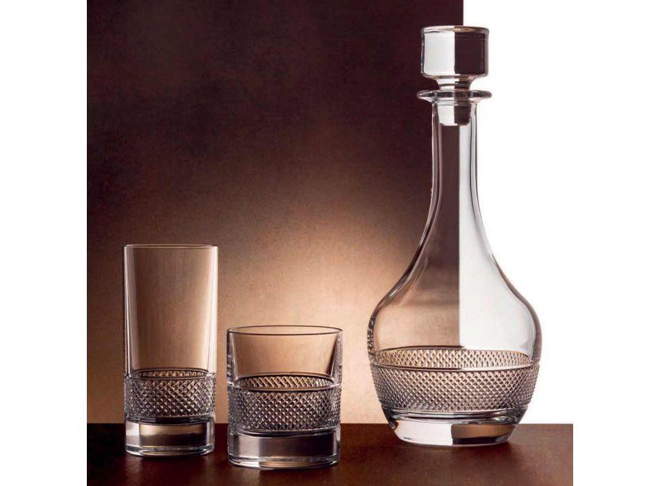 2 bouteilles de vin avec couvercle rond en cristal écologique - Milito