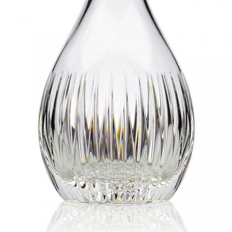 2 bouteilles de vin de luxe italien moulu à la main en cristal écologique - Désir