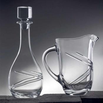 2 bouteilles de vin et couvercle en cristal écologique décoré à la main de luxe - Cyclone