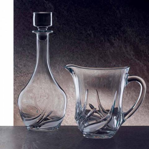2 bouteilles de vin en cristal écologique avec couvercle rond et décorations - Avent