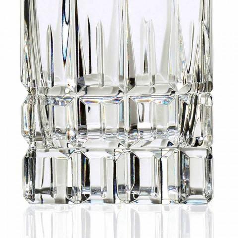 2 bouteilles de whisky avec bouchon en cristal design carré avec bouchon - Fiucco