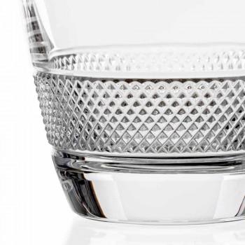 2 bouteilles de whisky décorées dans un design élégant en cristal écologique - Milito