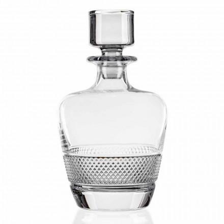 2 bouteilles de whisky décorées de cristal écologique Made in Italy - Milito