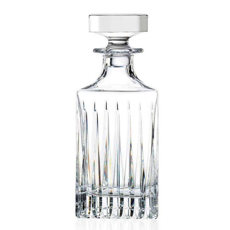 2 bouteilles de whisky en cristal avec broyage manuel Made in Italy - Voglia