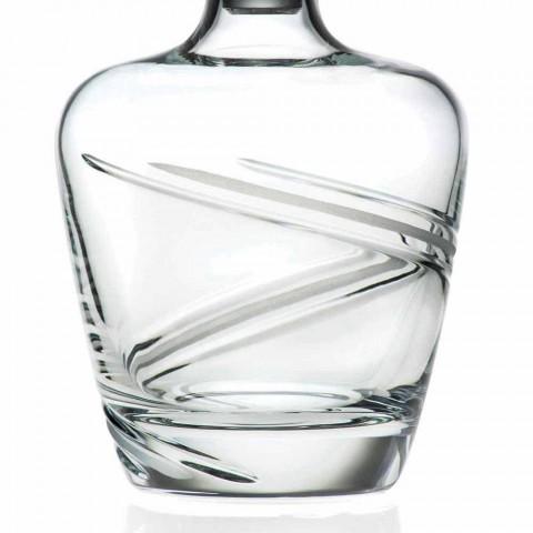 2 bouteilles de whisky en cristal écologique artisanal italien - Cyclone