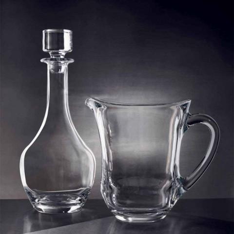 2 bouteilles pour vins en cristal écologique design minimaliste italien - lisse