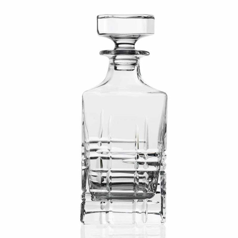 2 bouteilles de whisky avec capuchon carré décoré de cristal - Arythmie