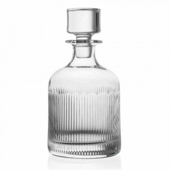 2 bouteilles de whisky avec capuchon en cristal écologique design vintage - tactile
