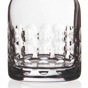 2 bouteilles pour whisky en cristal écologique décorées avec bouchon - titanioball
