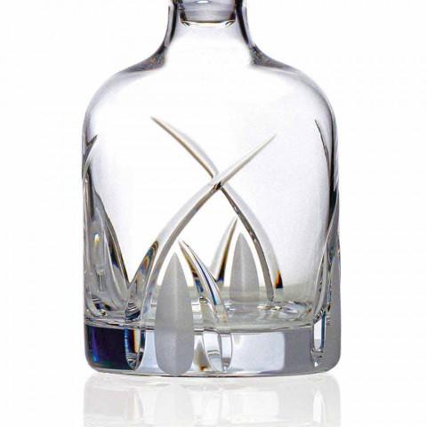 2 bouteilles de whisky avec bouchon cylindrique en cristal écologique - Montecristo