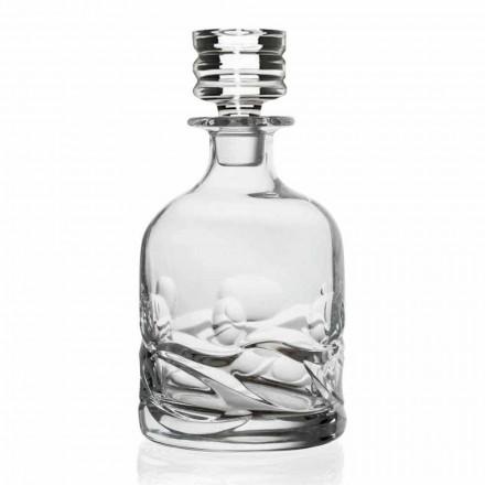 2 bouteilles de whisky décorées en cristal écologique avec bouchon design de luxe - titane