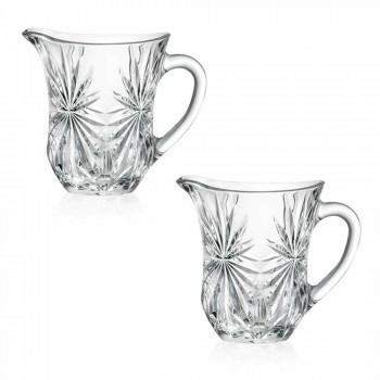 2 cruches à eau design avec décoration en verre sonore supérieur Ultraclear - Daniele
