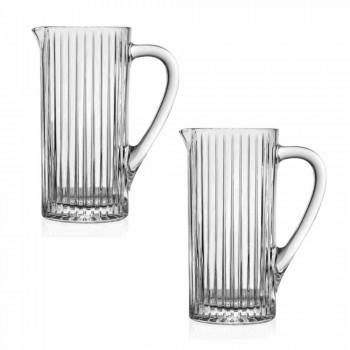 2 cruches d'eau et de boissons dans un design de luxe décoré en cristal écologique - Senzatempo