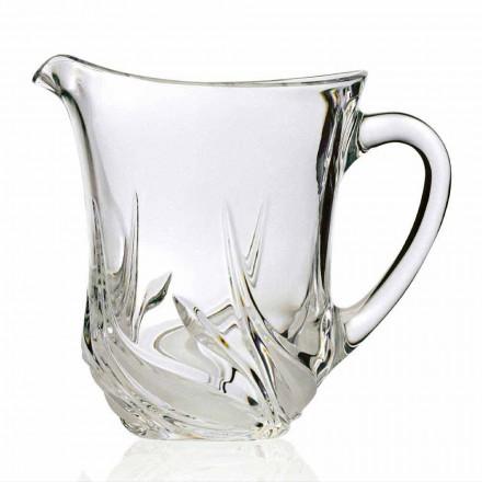 2 cruches à eau en cristal écologiques avec des décorations de luxe, fabriquées en Italie - Avent