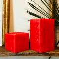 2 bougies carrées de différentes tailles en cire Made in Italy - Adelle