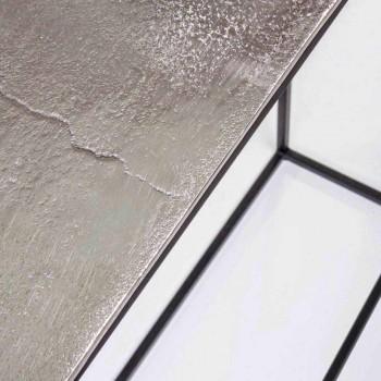 2 Consolle en acier de style industriel Design moderne Homemotion - Sesame
