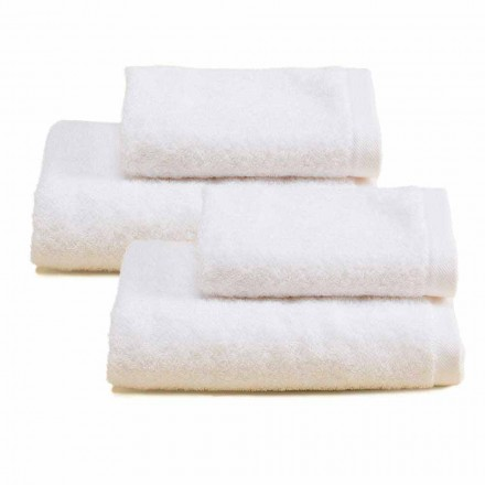 2 couples de serviettes éponge de salle de bain en coton coloré - Vuitton