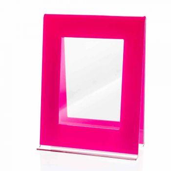 Cadre photo à 2 tables multiples au design italien en plexiglas coloré - Tarino