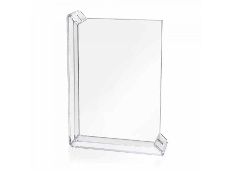 2 Cadre Photo Table Multiple en Plexiglas Coloré ou avec Bois - Menelao