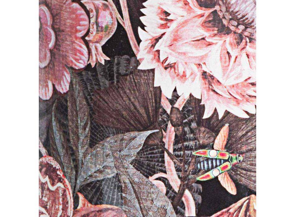 2 porte-parapluies en porcelaine avec décalcomanie fleur Homemotion - Jolly