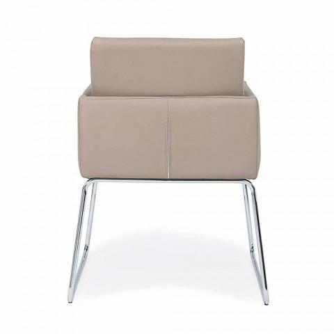 2 Chaises avec Accoudoirs Recouverts de Similicuir Design Moderne Homemotion - Farra