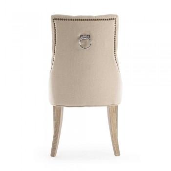 2 Chaises Modernes en Lin Structure Bois Chêne Homemotion - Barna