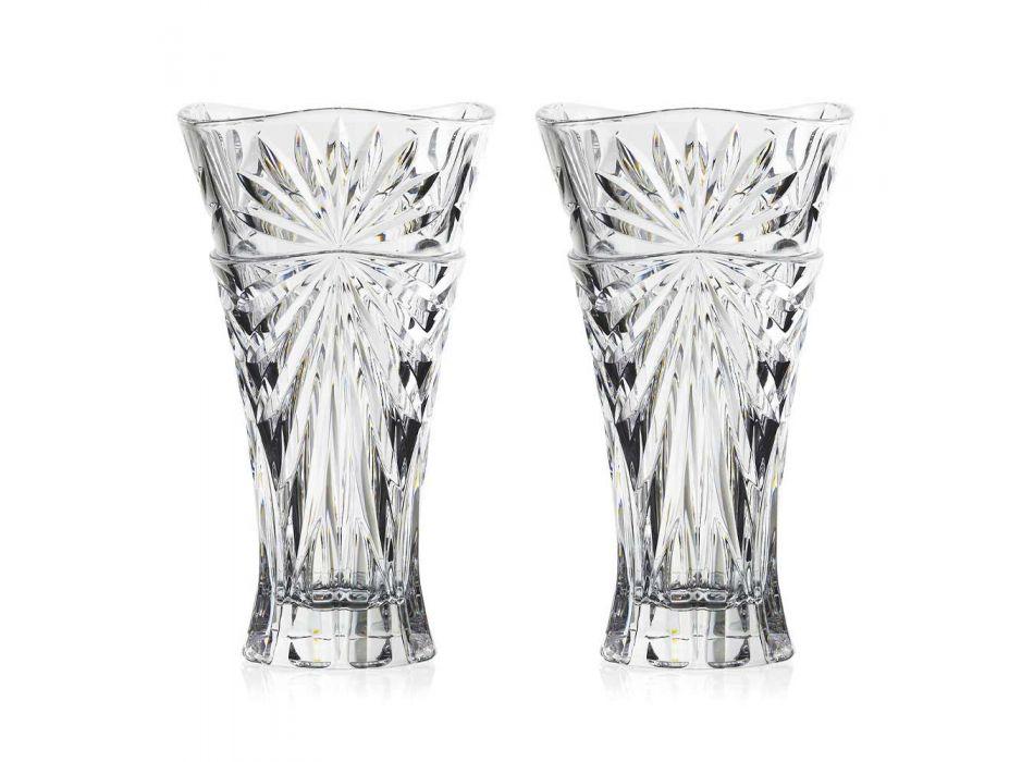 2 vases de décoration de table en cristal écologique au design unique - Daniele