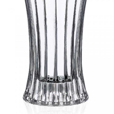 2 vases de décoration design en cristal écologique transparent décoré de luxe - Senzatempo