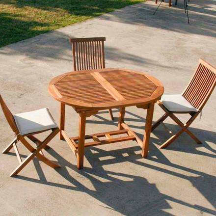 Table de jardin extensible faite en bois de teck Lipari