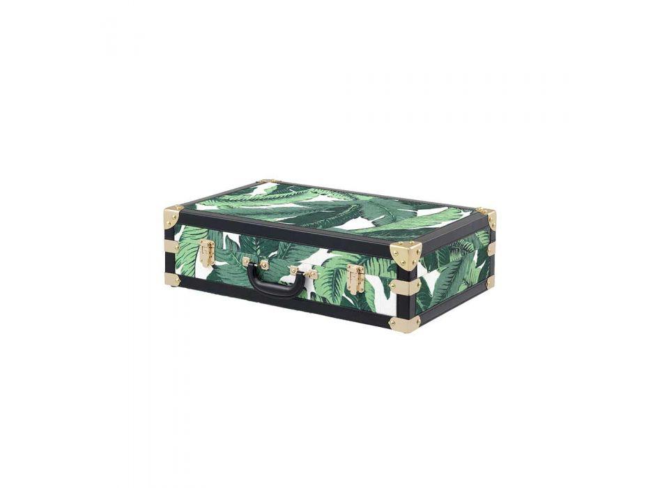 3 boxers design en MDF et tissu avec détails effet cuir noir - Amazonia