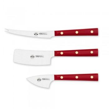 3 couteaux à fromage en acier inoxydable Berti exclusifs pour Viadurini - Asiago