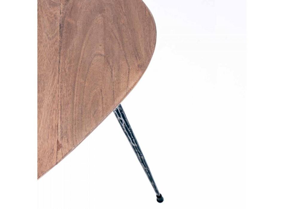 3 Tables Basses Modernes avec Plateau en Manguier Homemotion - Kalidi