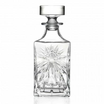4 bouteilles de whisky avec bouchon en cristal écologique design carré - Daniele