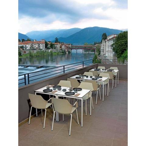 4 Chaises d'extérieur empilables en polypropylène et métal Made in Italy - Carlene