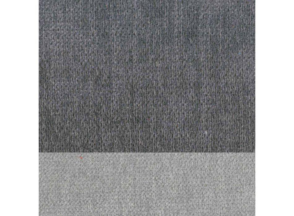 4 chaises de salon élégantes et modernes en tissu avec bordure - Scarat