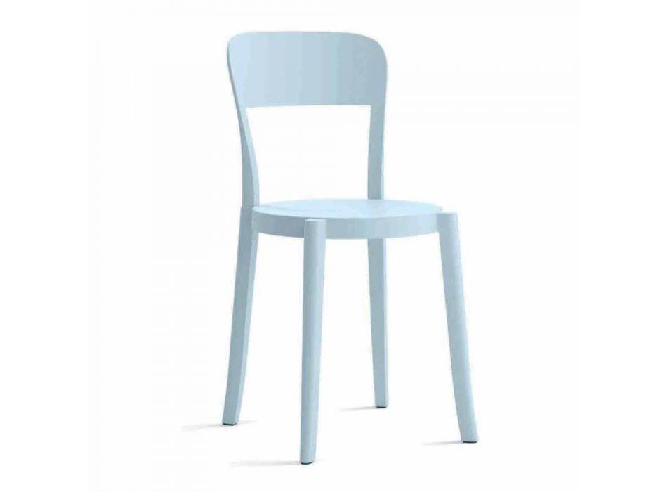 4 chaises d'extérieur empilables en polypropylène Made in Italy Design - Alexus