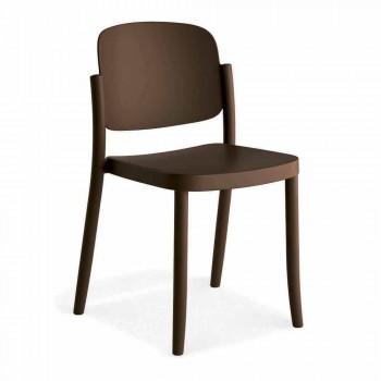 4 Chaises d'extérieur empilables modernes en polypropylène fabriquées en Italie - Bernetta