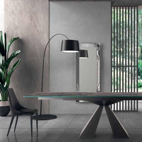 4 chaises modernes en acier avec assise rembourrée en velours Made in Italy - Nirvana
