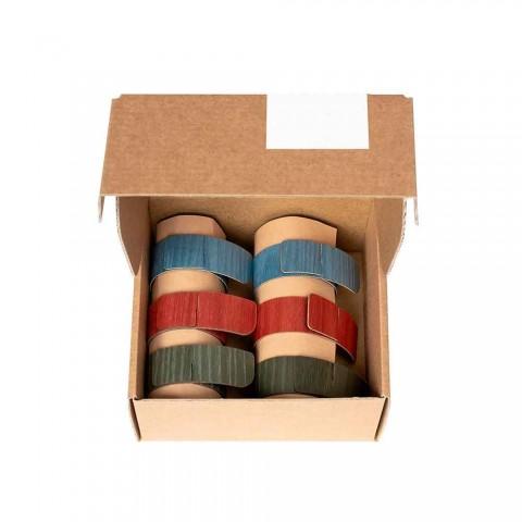 6 ronds de serviette design en couleurs assorties Made in Italy - Potty