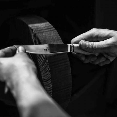 6 couteaux à steak fabriqués à la main en corne ou en bois fabriqués en Italie - Zuzana