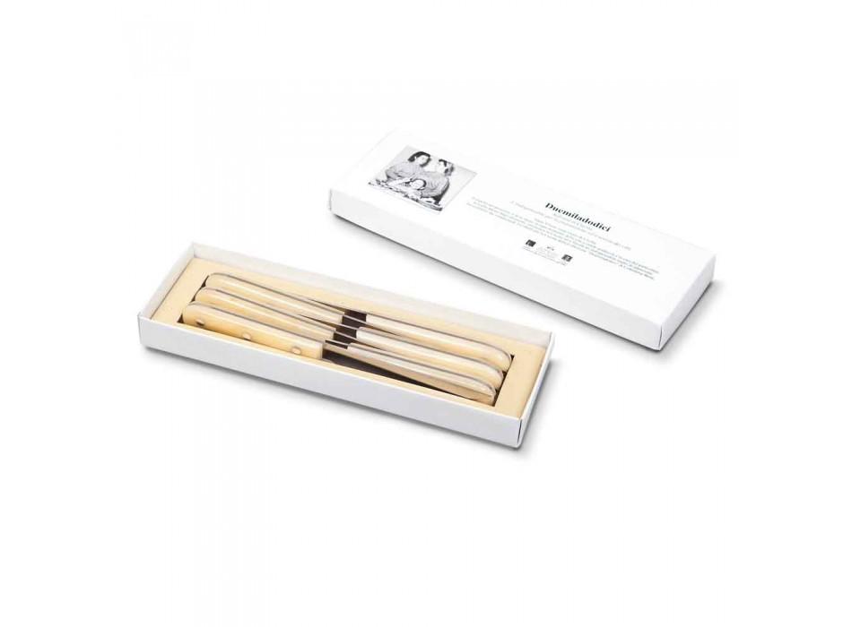 6 couteaux de table 2012 Berti en acier inoxydable exclusif pour Viadurini - Annico